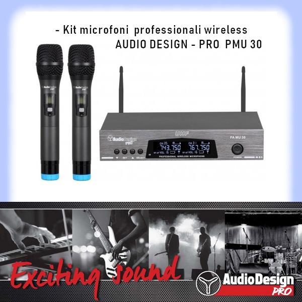 PMU 30 Kit Radio Microfoni Audiodesign Pro