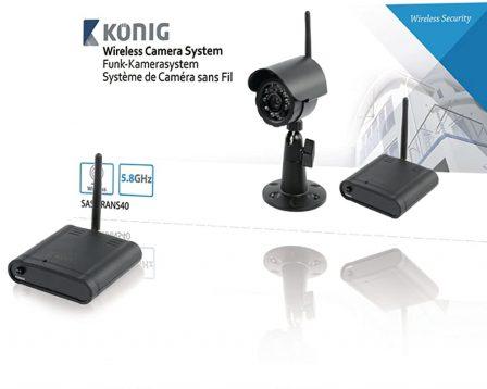 König SAS-TRANS40 Sistema di Fotocamera Wireless 5.8 GHz