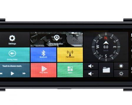 """VM 495 Specchietto Full Screen 9.7"""" Android Dvr Con Retrocamera Phonocar"""