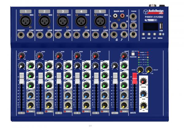 PAMX1.51 USB2 Mixer AudiodesignPro
